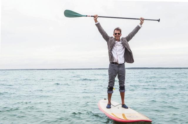 jd photo on paddleboard